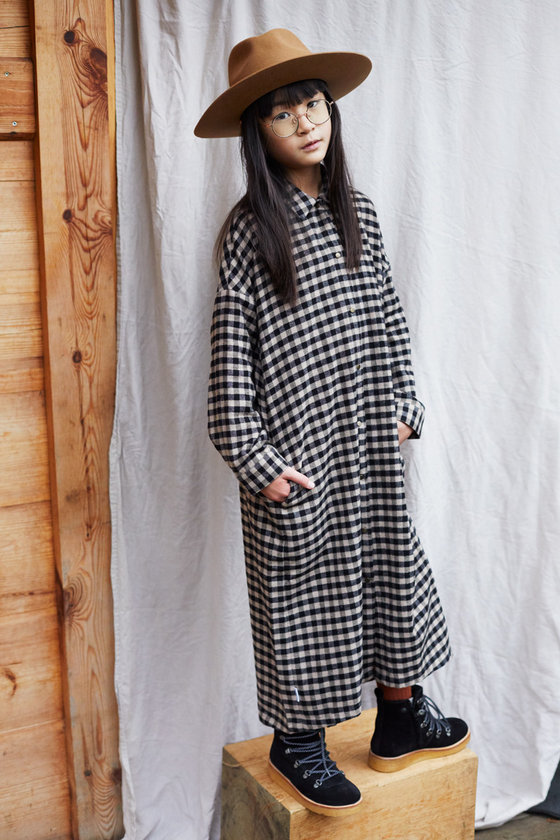 Oversized shirt dress - Check Caramel / Black-2