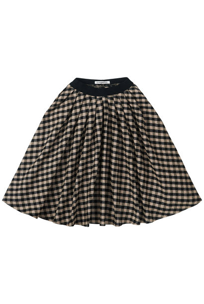 Midi skirt - check Caramel / Black