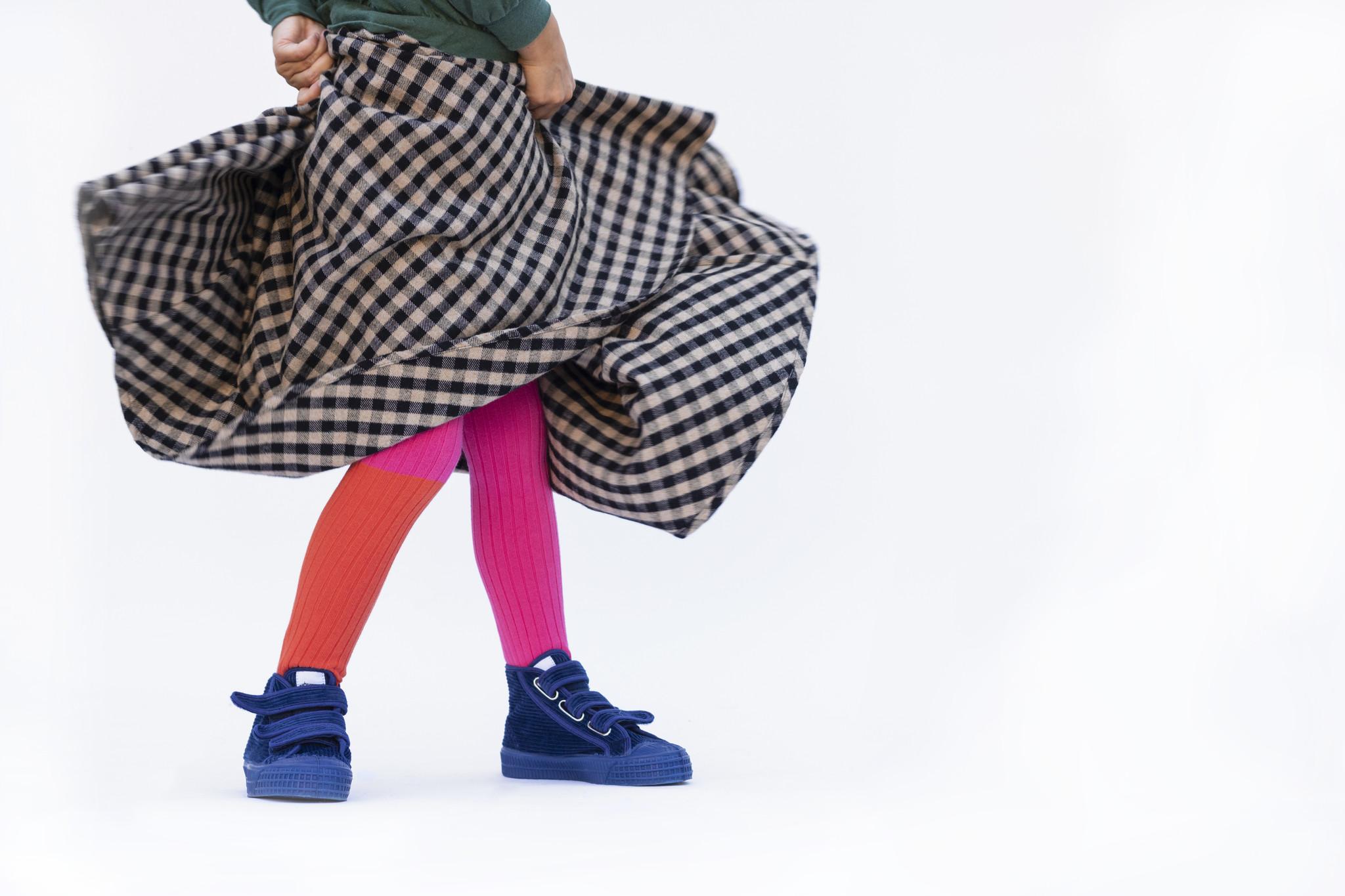 Midi skirt - check Caramel / Black-2