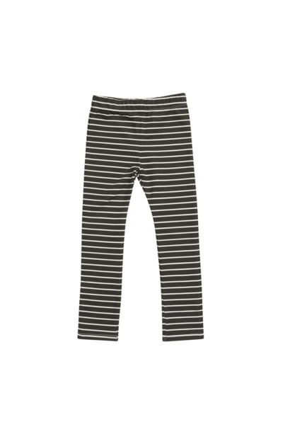 Legging kid - Petit Stripes Espresso Black