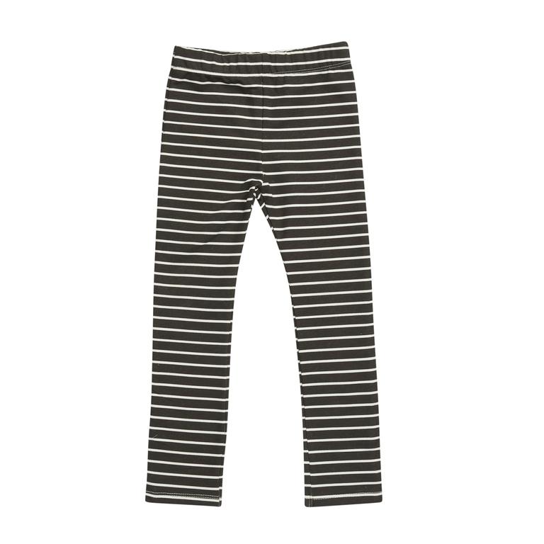 Legging kid - Petit Stripes Espresso Black-1