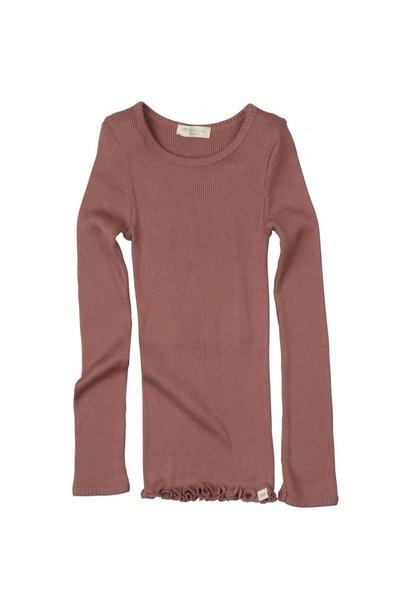 Bergen long sleeve T-shirt - Antique Red