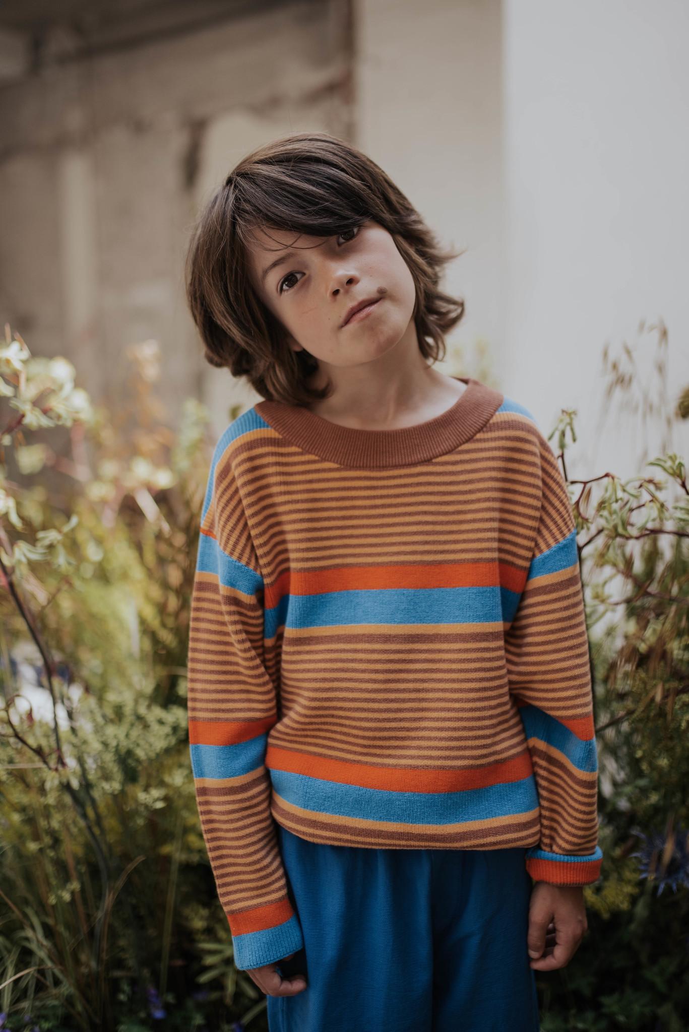 Boxy sweater - Bold Stripe-2