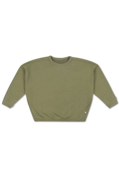 Boxy sweater - Loden Green