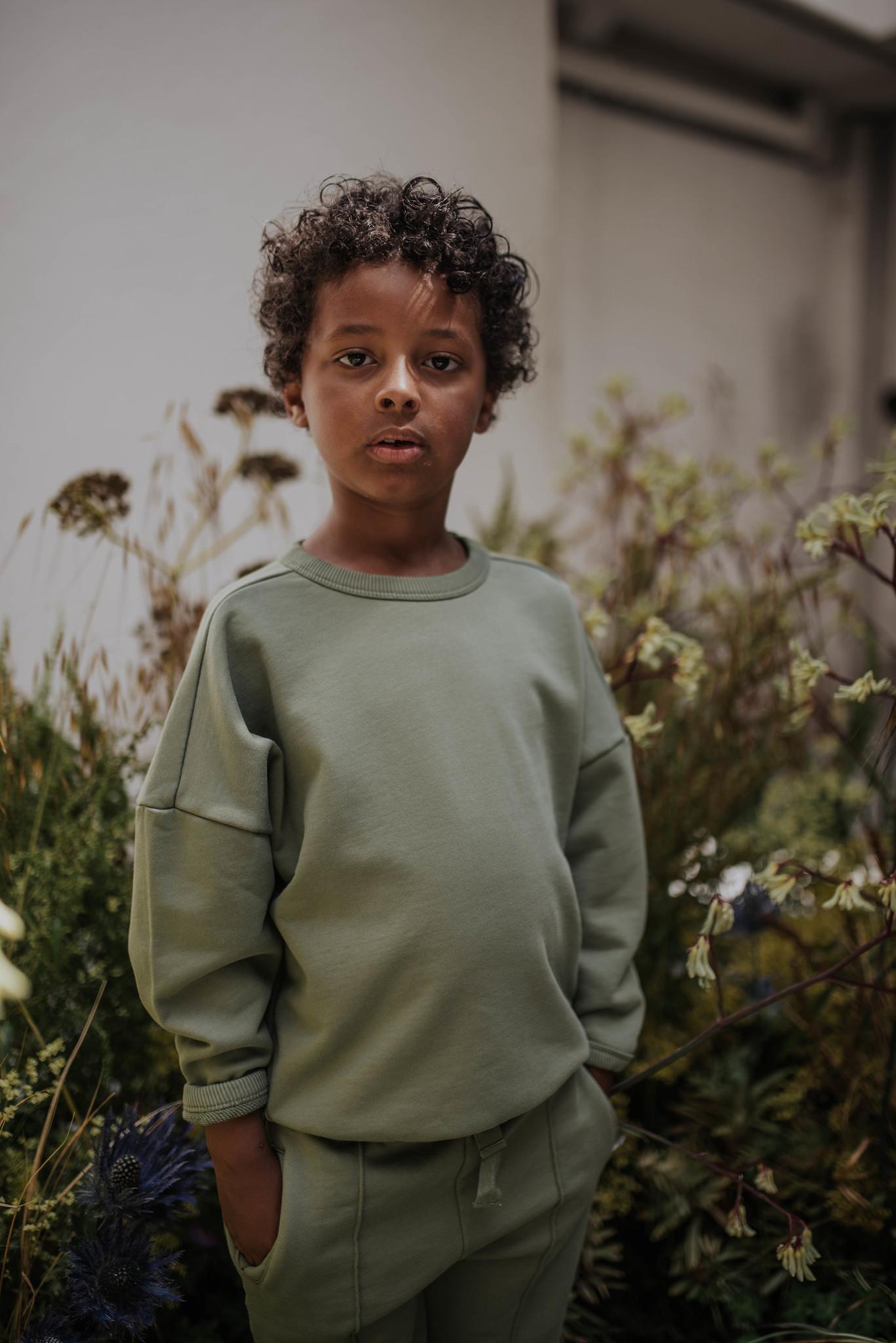 Boxy sweater - Loden Green-2