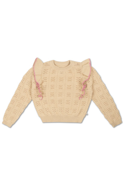 Knit sweater - Vintage White