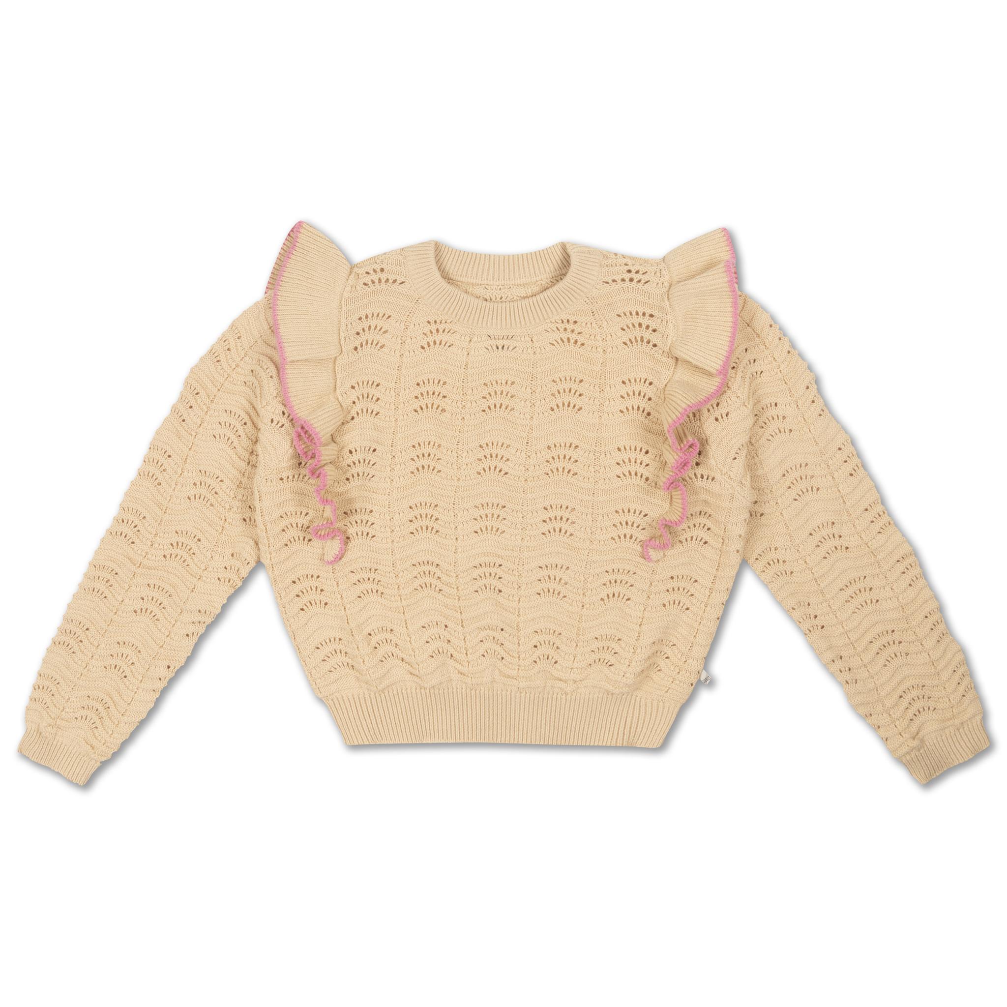 Knit sweater - Vintage White-1