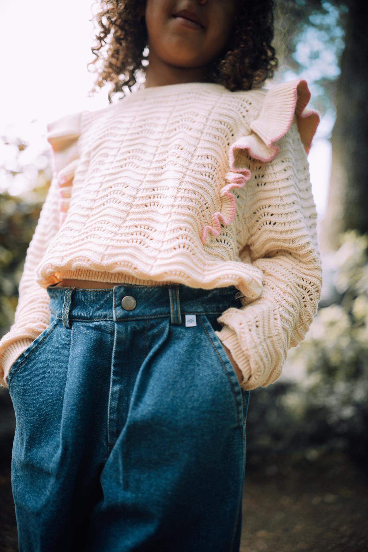 Knit sweater - Vintage White-3