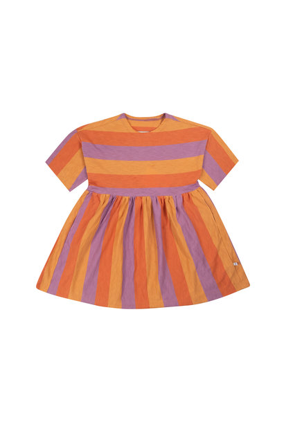 Simple dress - Peachy Lavender Block Stripe