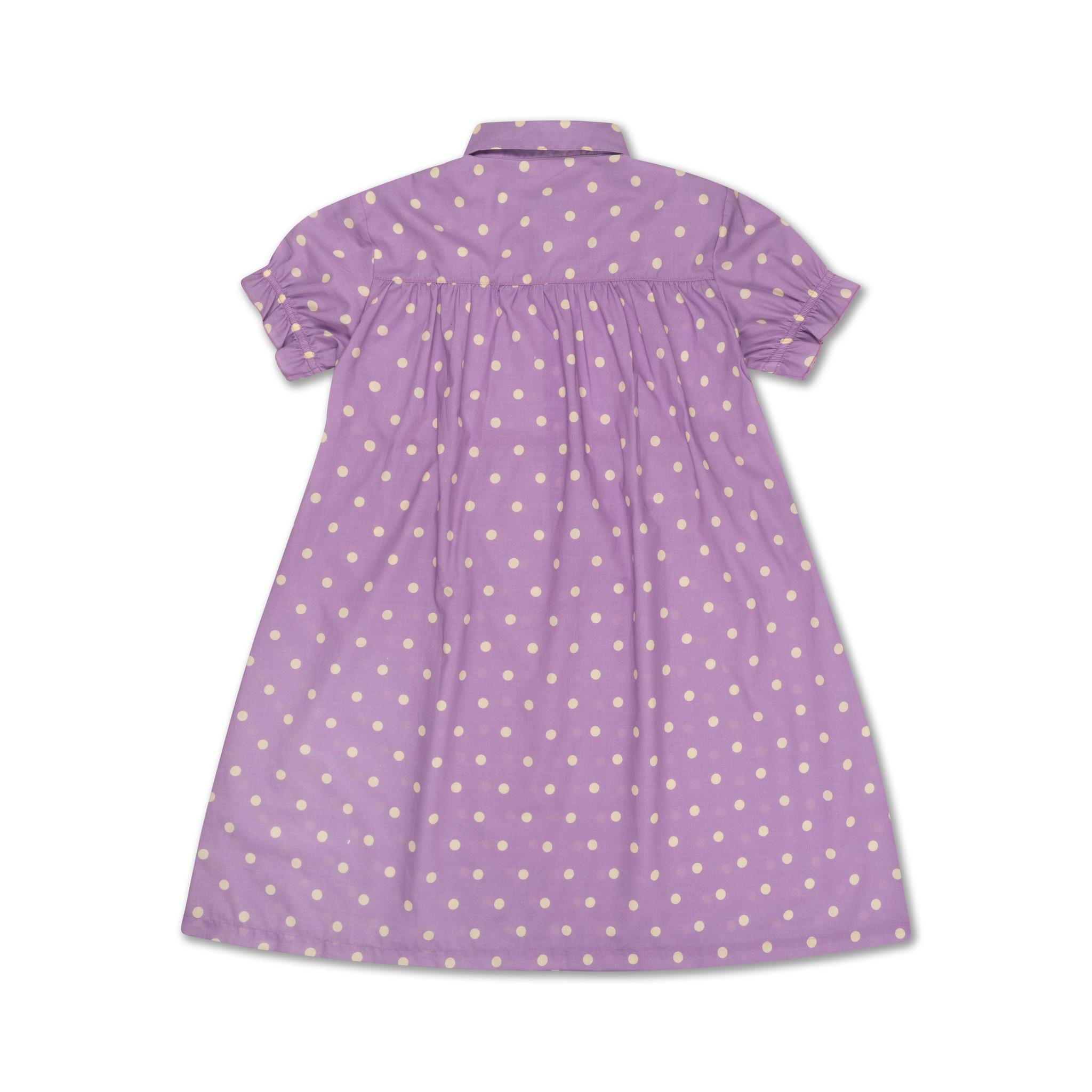 Dreamy dress - Greyish Lavender Polka Dot-3