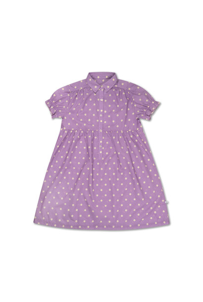 Dreamy dress - Greyish Lavender Polka Dot