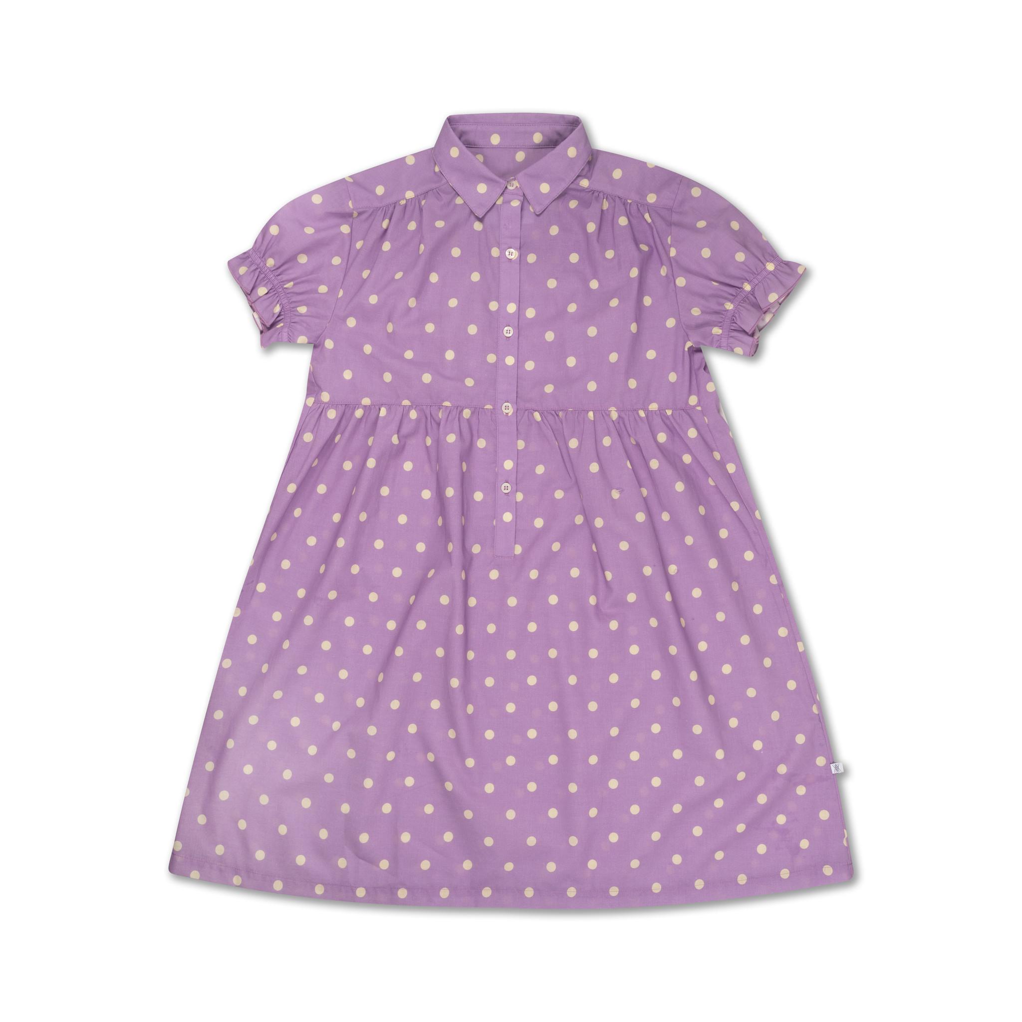 Dreamy dress - Greyish Lavender Polka Dot-1