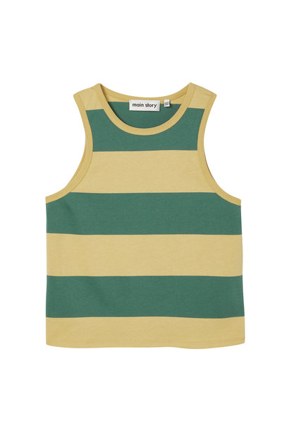 Slouchy vest - Hemp Stripe