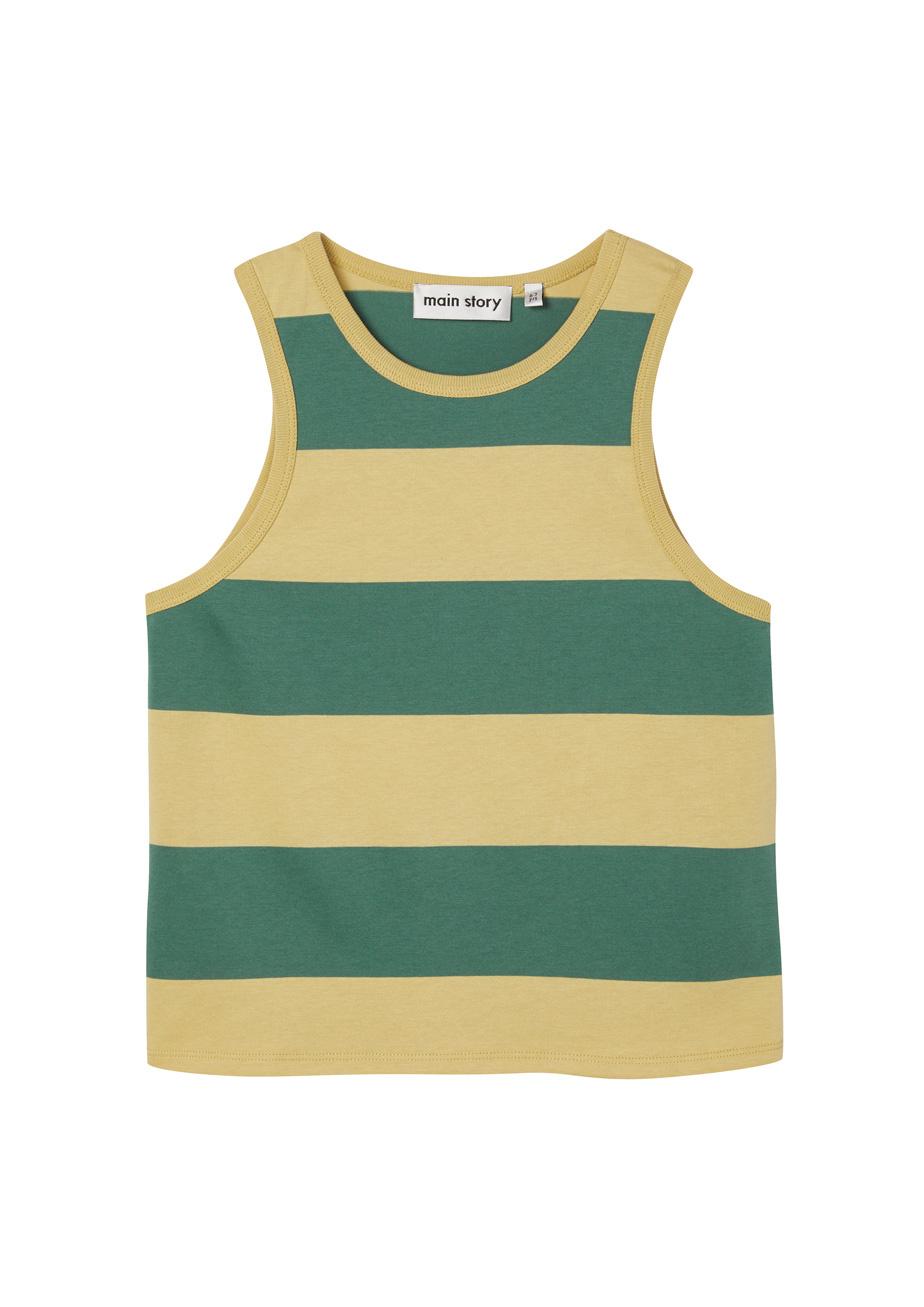Slouchy vest - Hemp Stripe-1