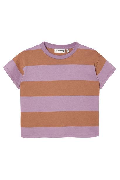 Boxy tee - Russet Stripe