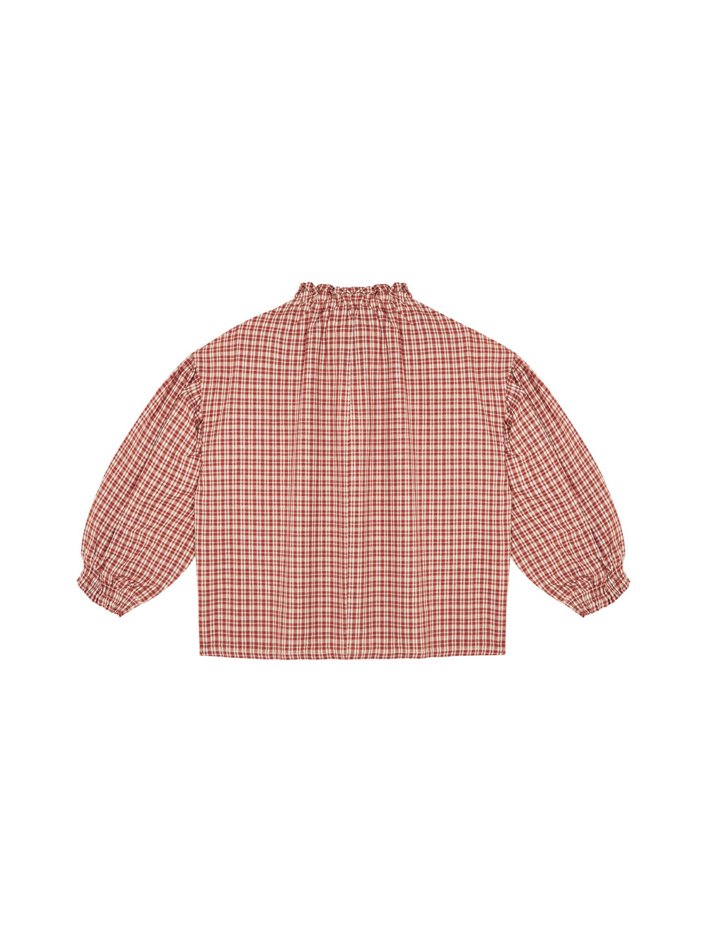Olivia blouse - Caramel Check-2