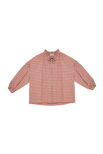 Olivia blouse - Caramel Check