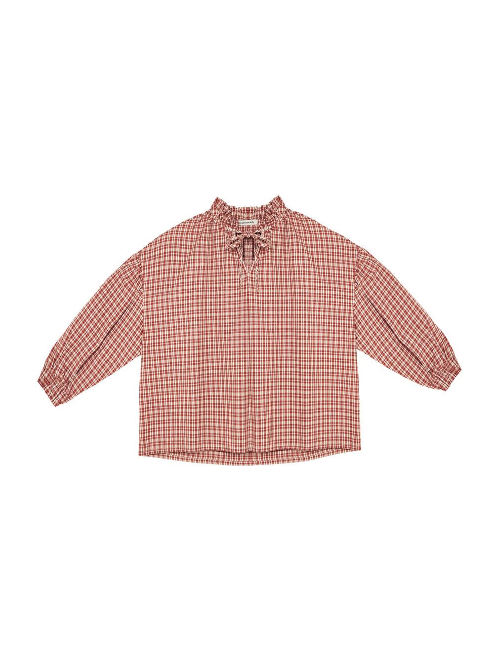 Olivia blouse - Caramel Check-1