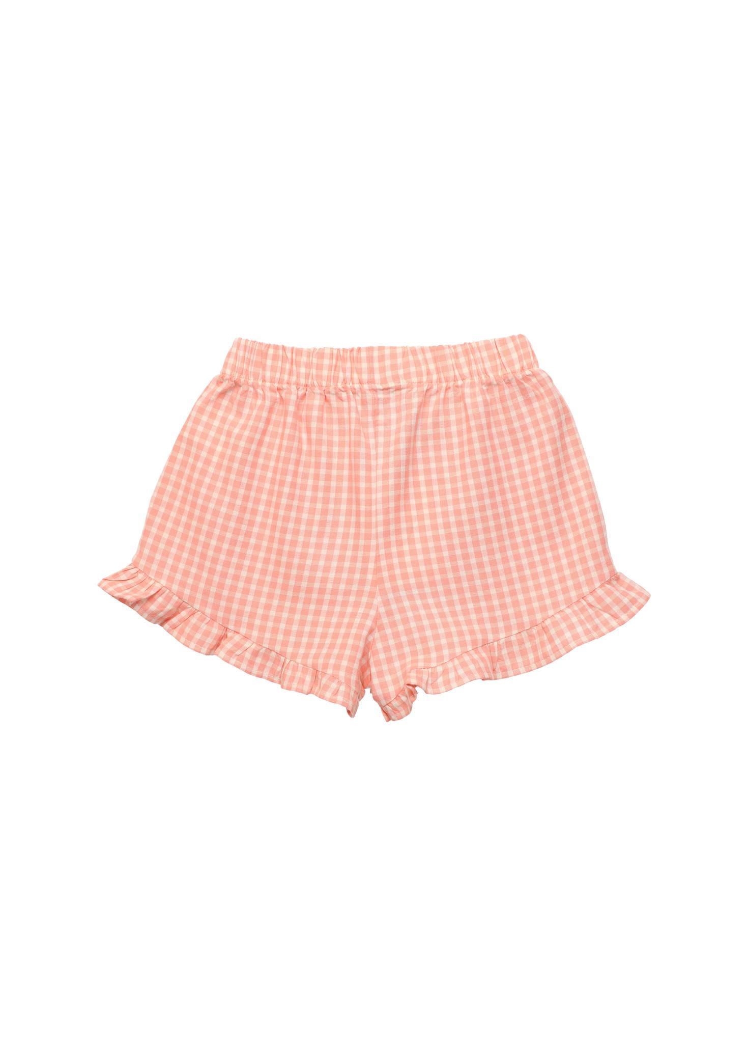 Rachel short - Coral Check-4