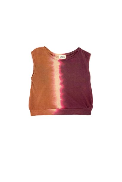 Sleeveless tee - Canyon Tie Dye