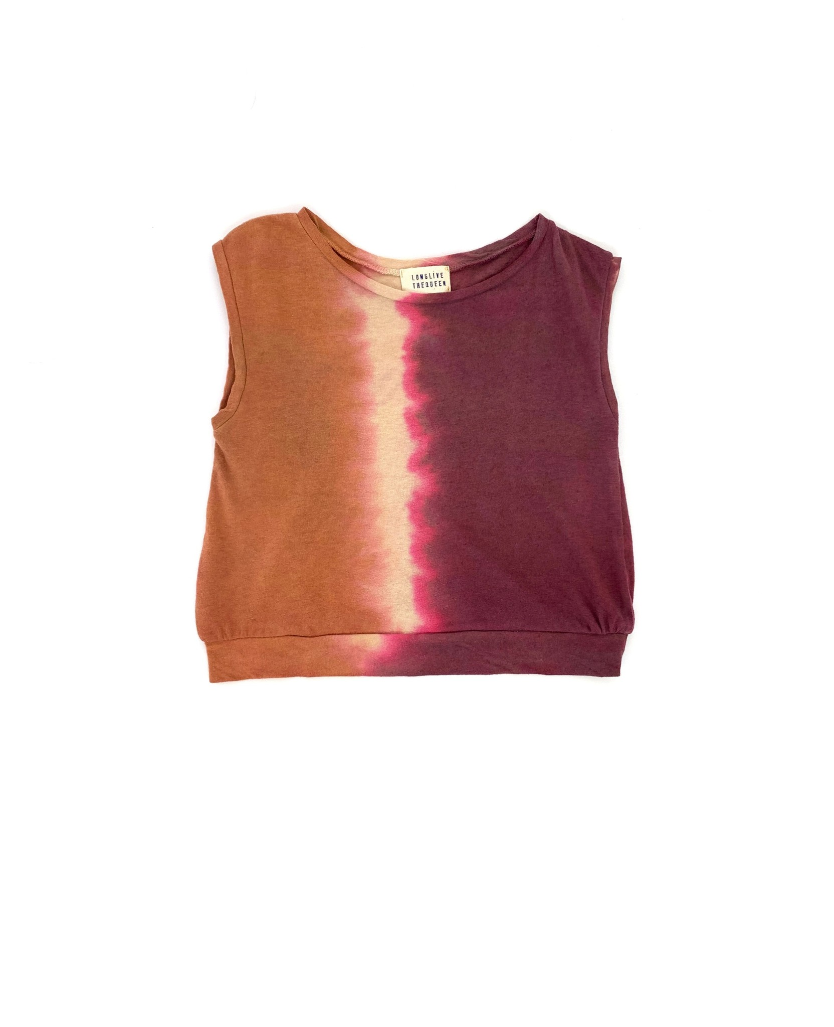 Sleeveless tee - Canyon Tie Dye-1