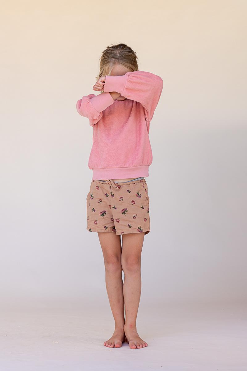 Puffed sweater - Rose-2