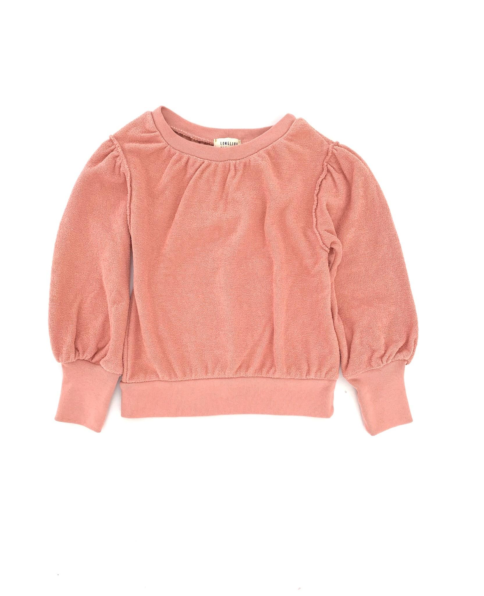 Puffed sweater - Rose-1