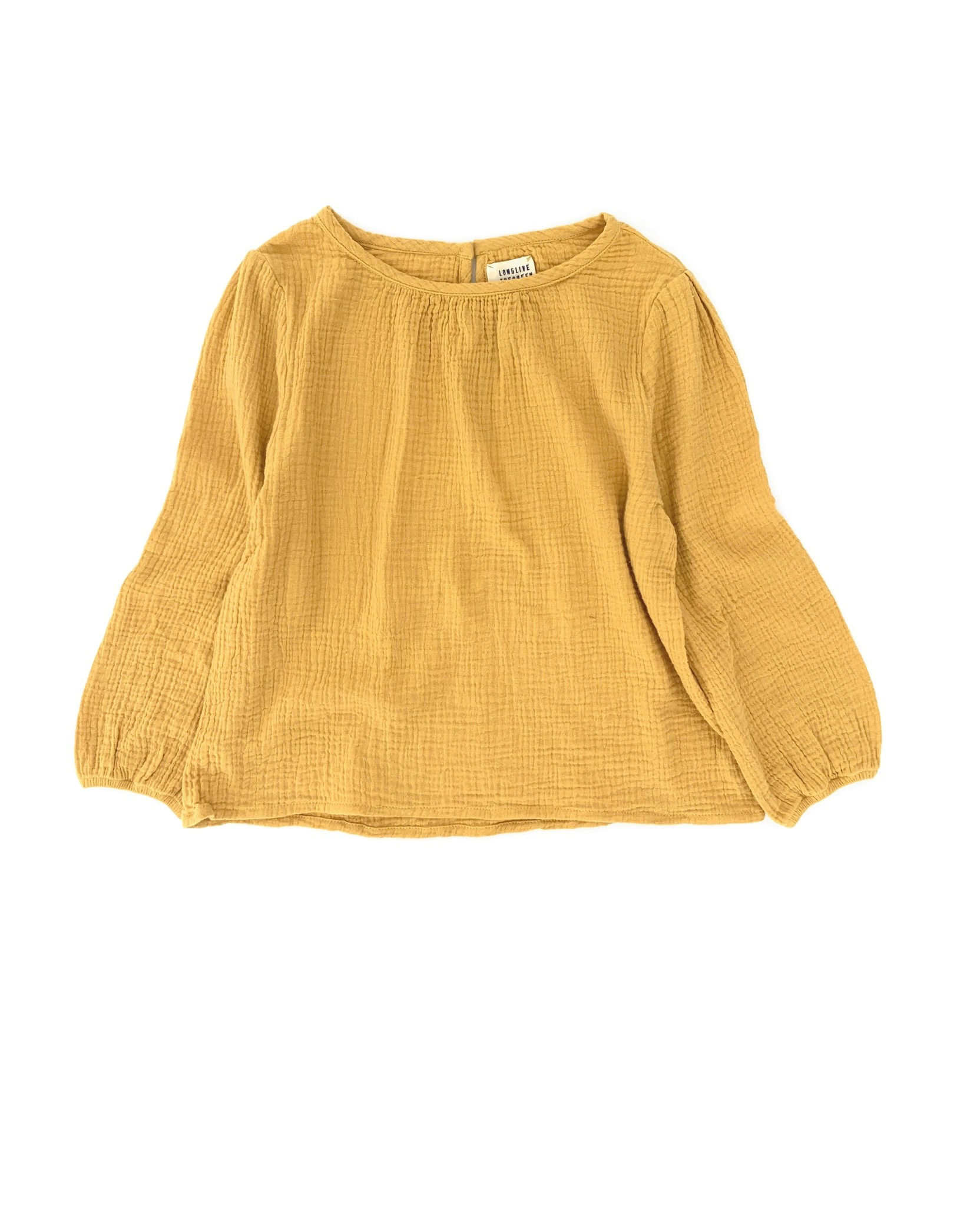 Crinkle blouse - Dirty Yellow-1
