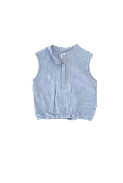 Sleeveless blouse - Shirt Blue