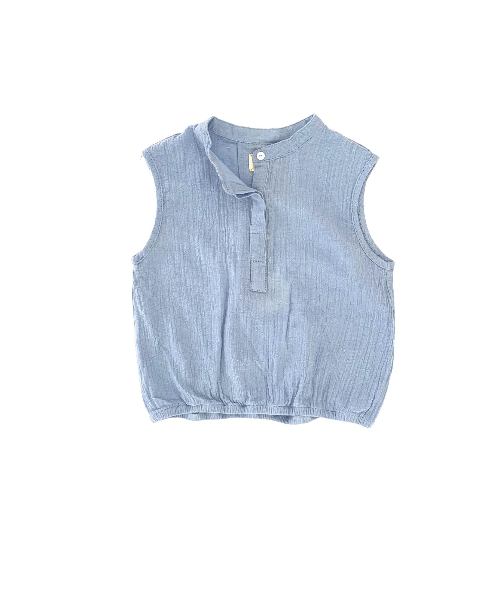 Sleeveless blouse - Shirt Blue-1