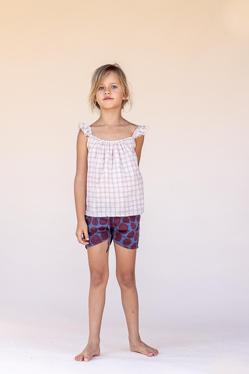 Summer top - Purple Check-2