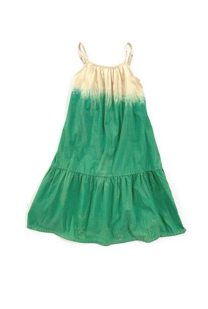 Wide dress - Green dipdye