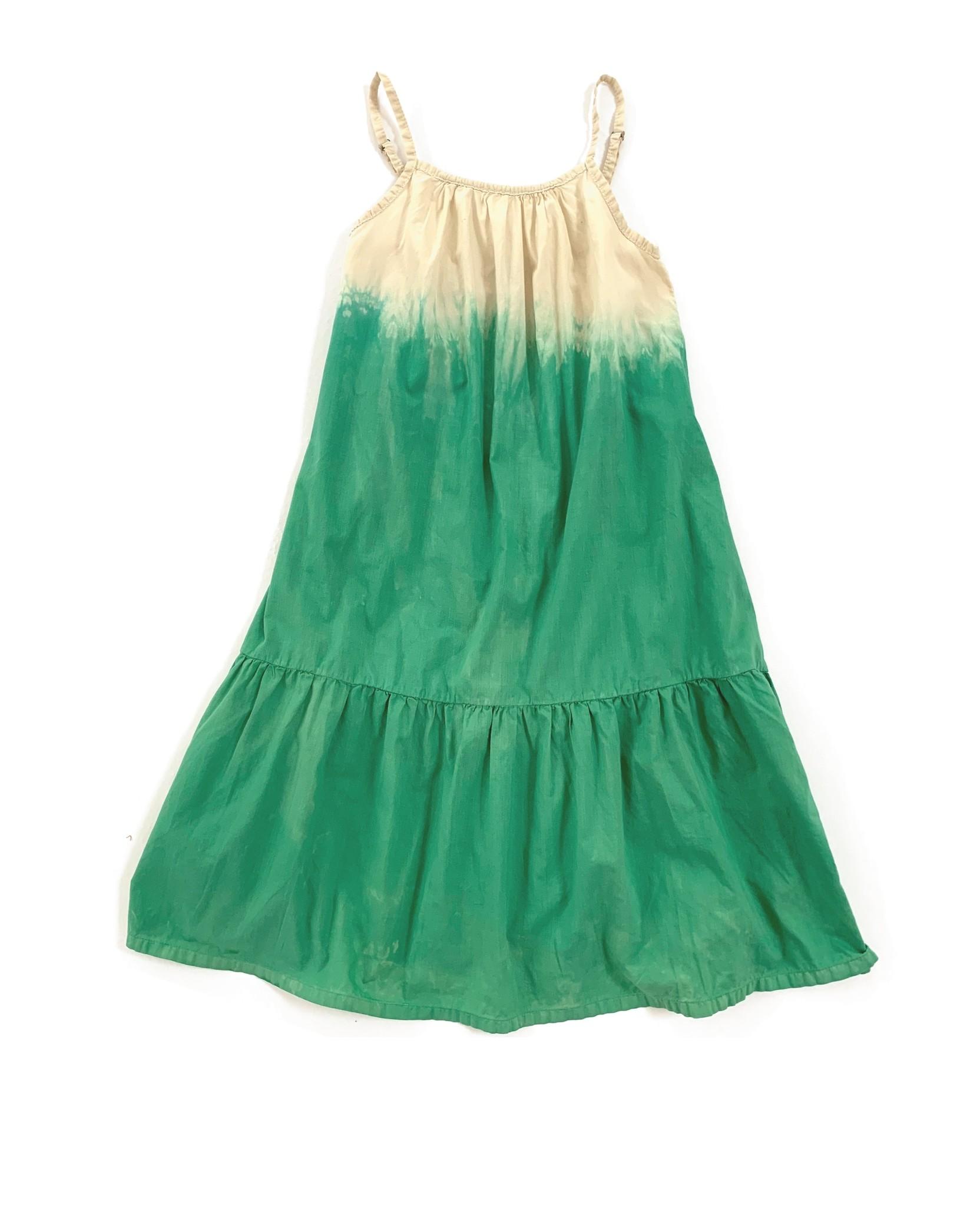 Wide dress - Green dipdye-1