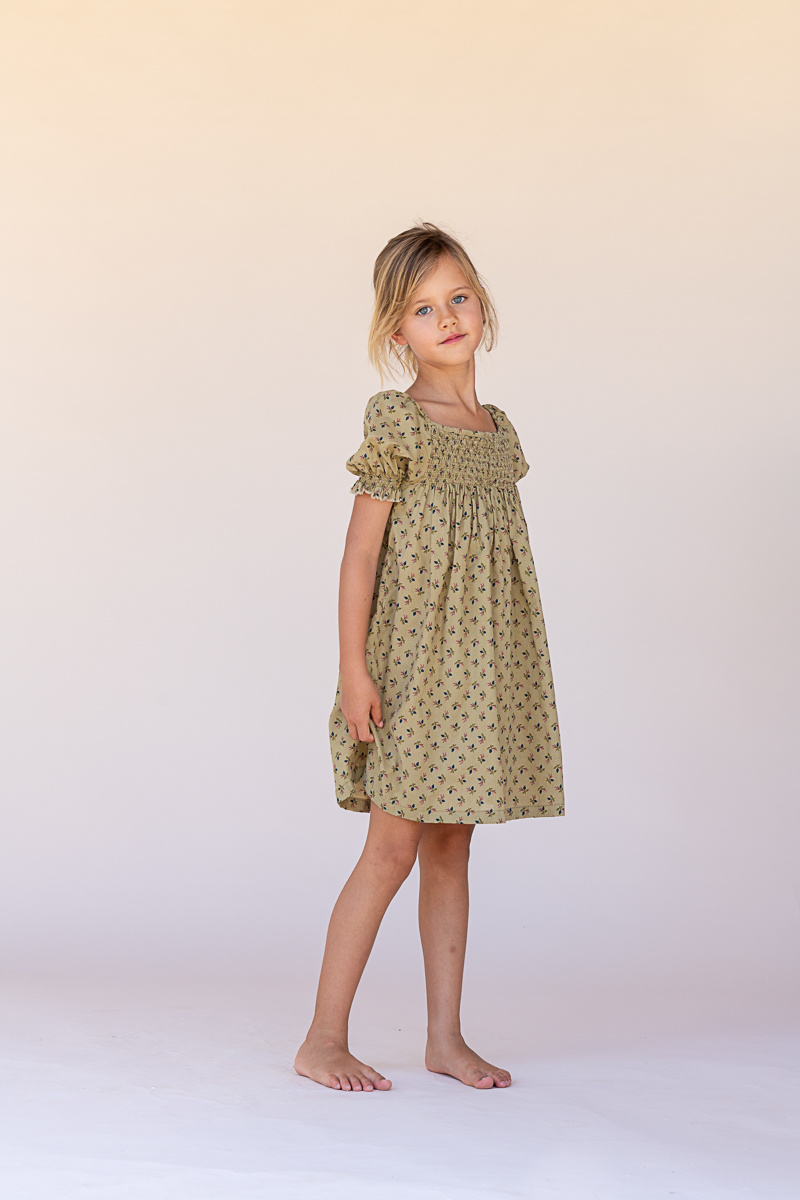 Babydoll dress - Sage-2
