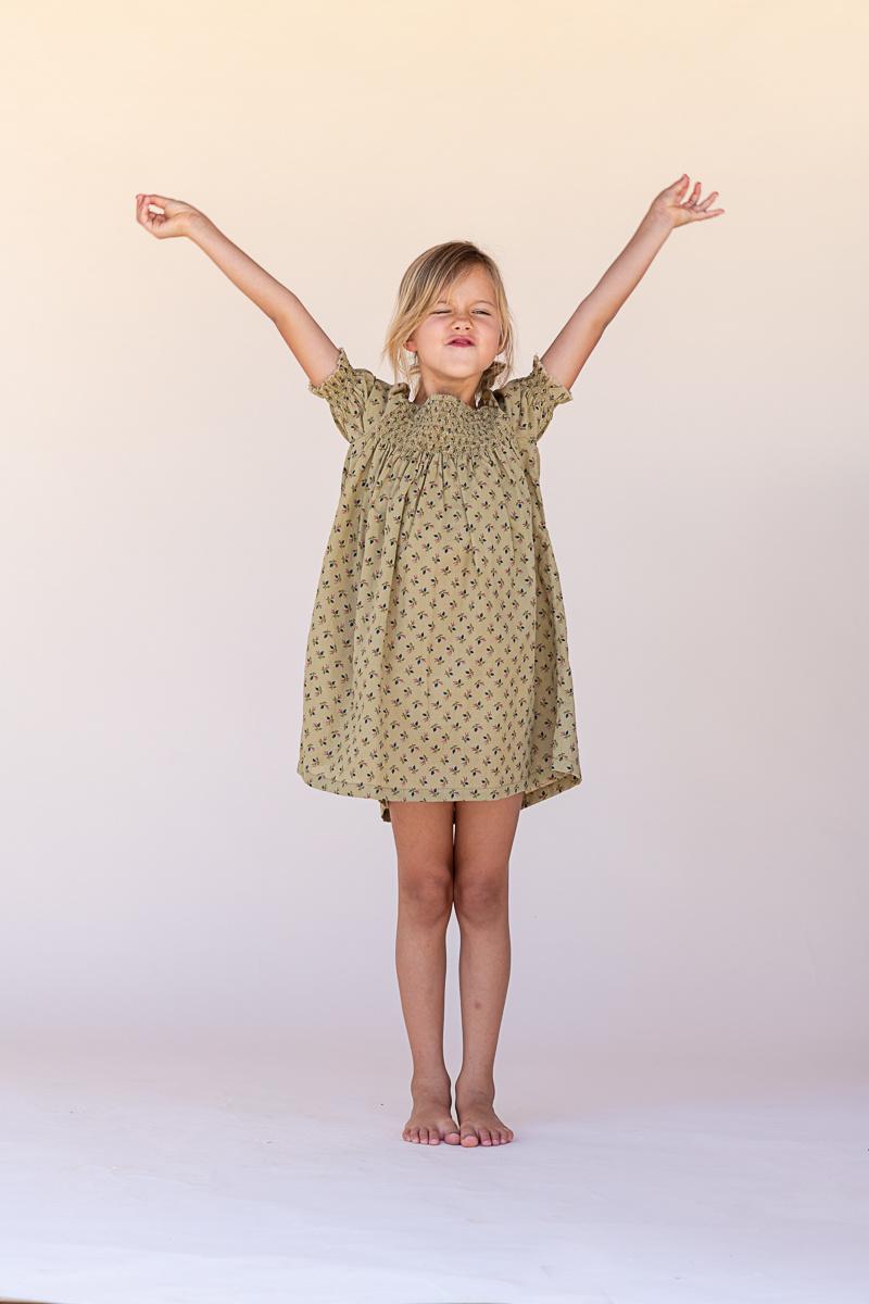 Babydoll dress - Sage-3