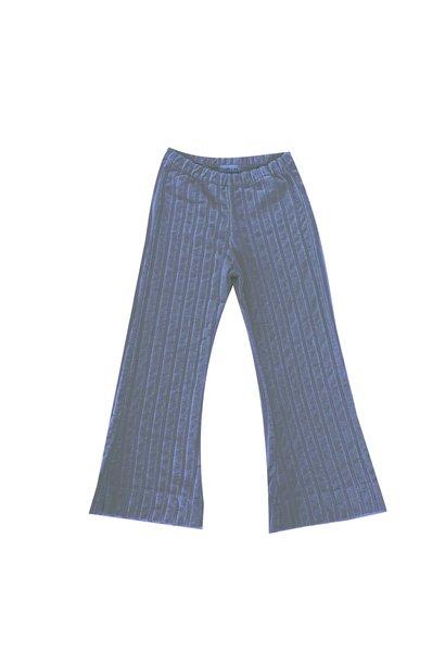 Rib velvet pants - Stone Blue