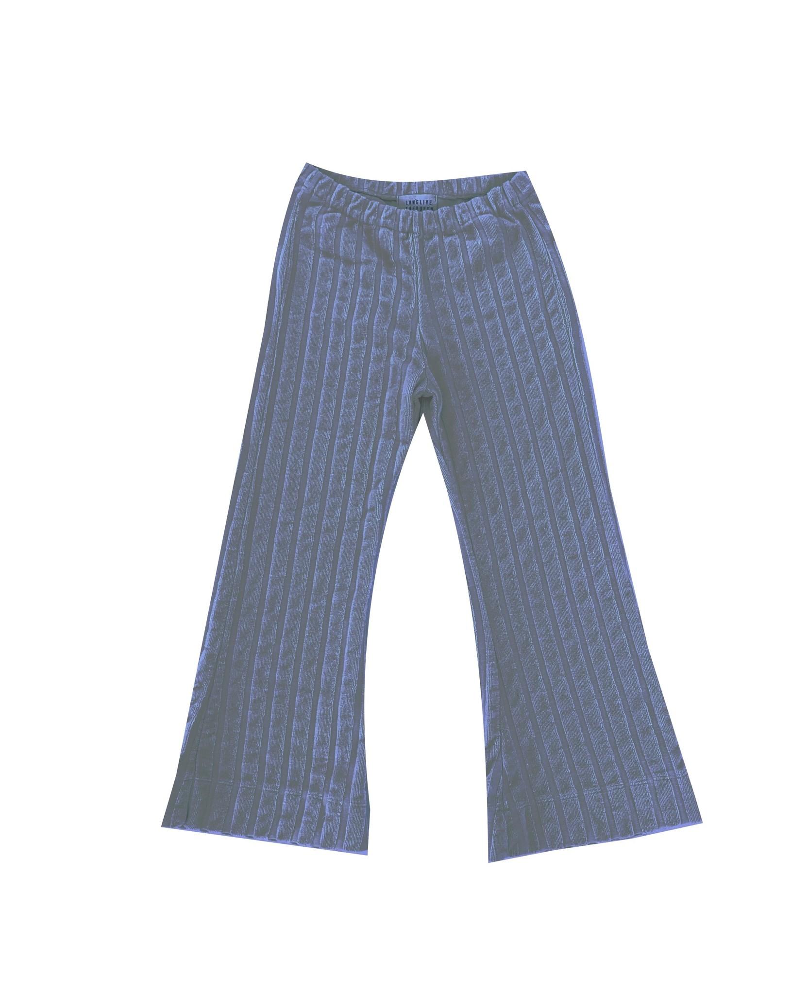 Rib velvet pants - Stone Blue-1