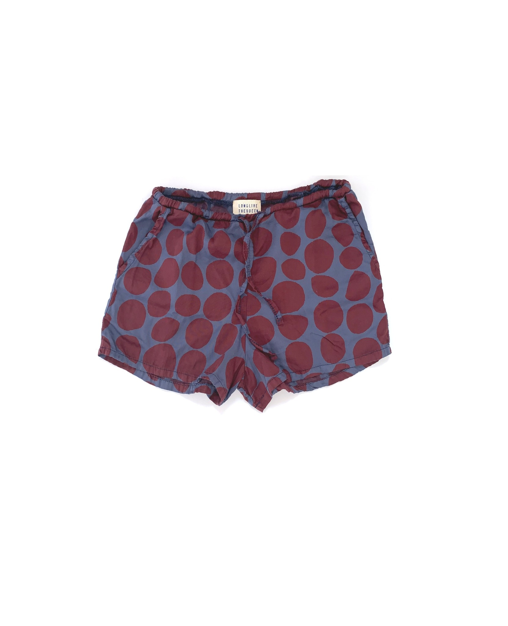 Shorts - Blue Dots-1