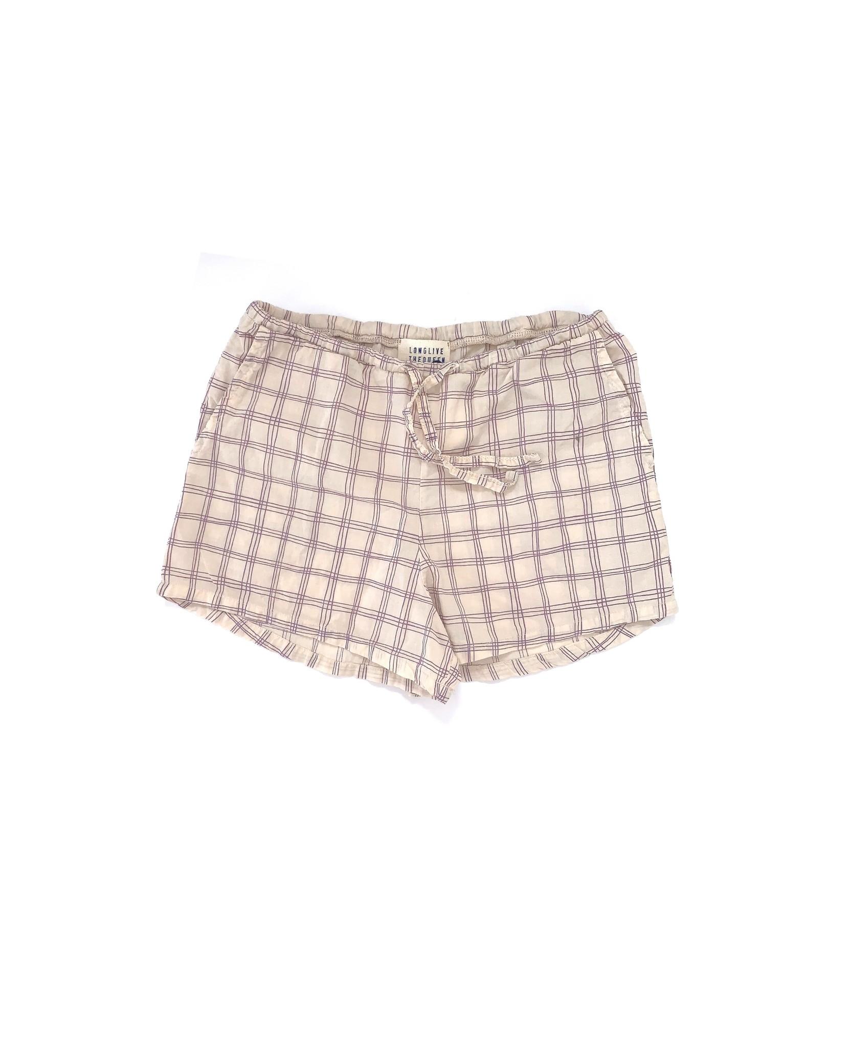 Shorts - Purple Check-1
