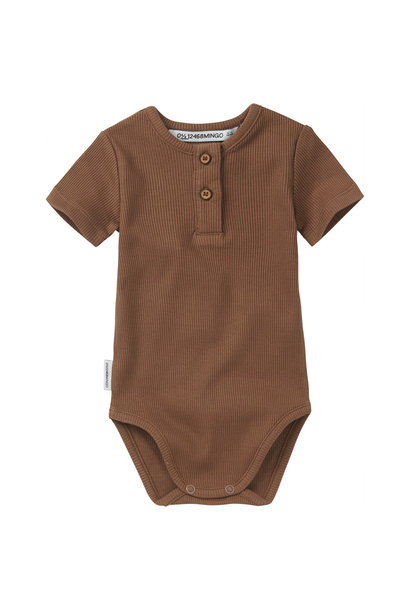 Bodysuit short sleeve - Warm Earth