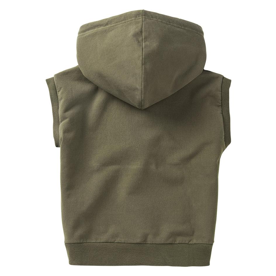 Sleeveless hoodie - Sage Green-3