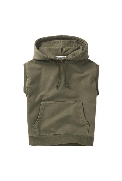 Sleeveless hoodie - Sage Green