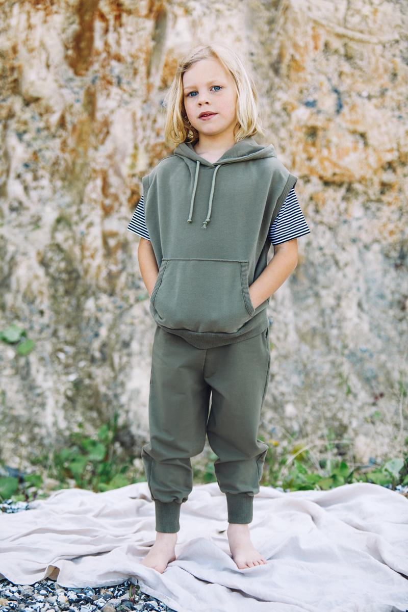 Sleeveless hoodie - Sage Green-2