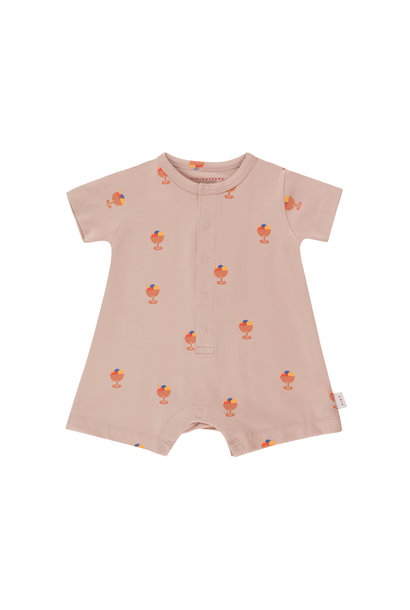 Ice cream cup one-piece - Dusty Pink / Papaya