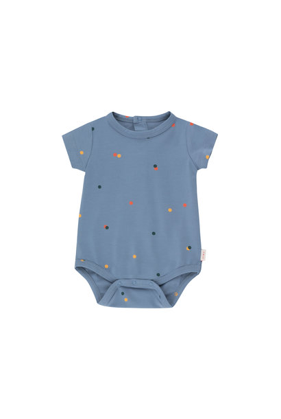 Ice cream dots body - Grey Blue