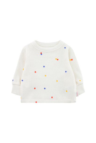 Ice cream dots baby sweatshirt - Off White