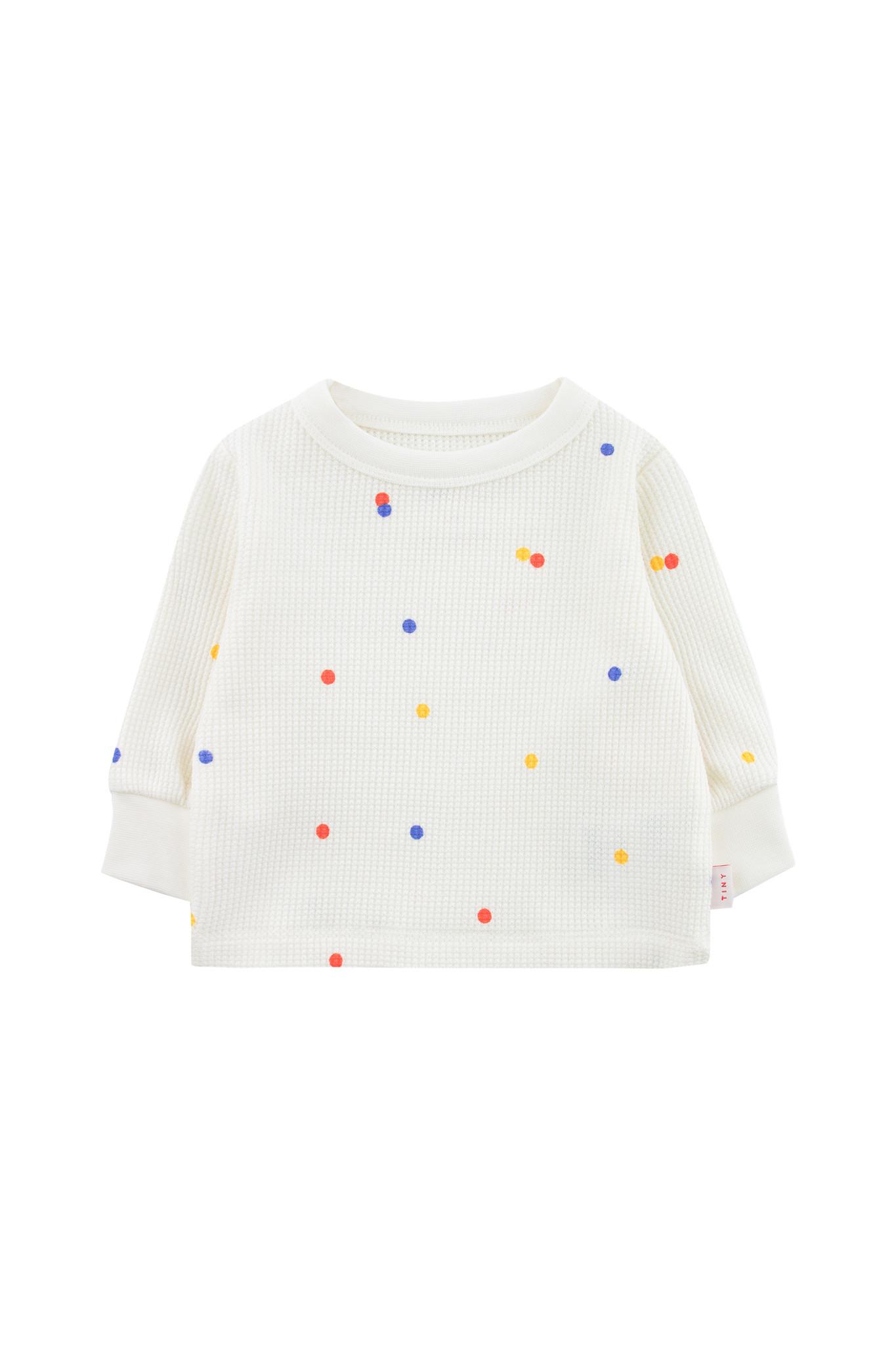 Ice cream dots baby sweatshirt - Off White-1