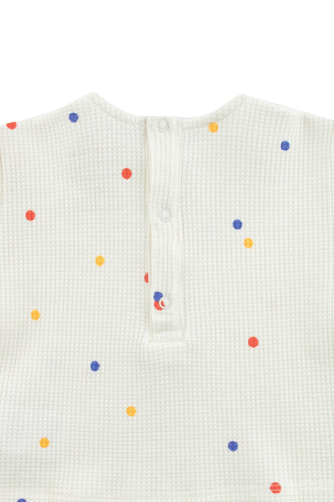 Ice cream dots baby tee - Off White-2