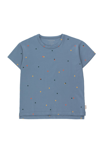 Ice cream dots tee - Grey Blue