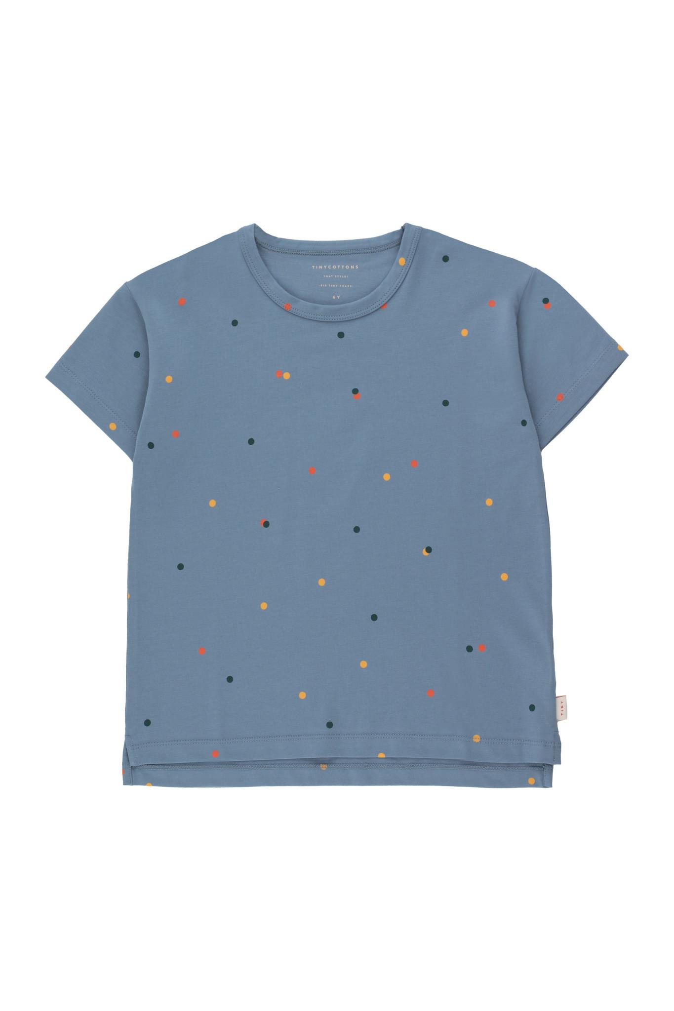 Ice cream dots tee - Grey Blue-1